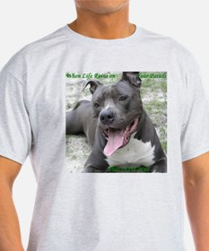 Smile With APBT Style Ash Grey T-Shirt