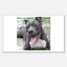 Smile With APBT Style Rectangle Decal