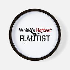 World's Hottest Flautist Wall Clock
