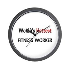 World's Hottest Fitness Worker Wall Clock