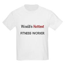 World's Hottest Fitness Worker Kids Light T-Shirt