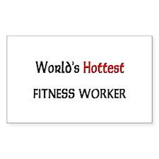 World's Hottest Fitness Worker Rectangle Sticker