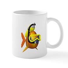 Scuba diving fish Mug