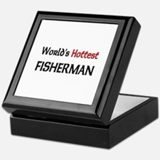 World's Hottest Fisherman Keepsake Box