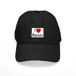 I Love Horses Black Cap