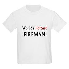 World's Hottest Fireman T-Shirt