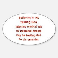 Don't limit God Oval Sticker (10 pk)