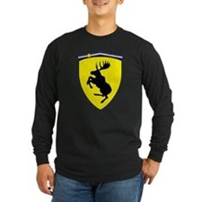 Prancing Moose, Lng Slve Dark Shirt 10 inch moose
