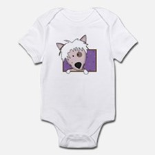 Cartoon Chinese Crested Baby Bodysuit