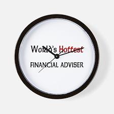 World's Hottest Financial Adviser Wall Clock