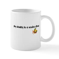 Daddy Scuba Diver Small Mugs