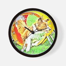 Agility Art Border Collie Wall Clock
