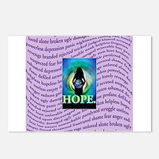Rape sexual assault awareness ribbon Postcards (Package of 8)