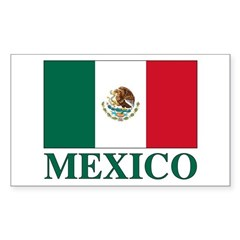 Mexico Flag Rectangle Decal