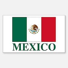 Mexico Flag Rectangle Decal