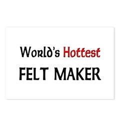 World's Hottest Felt Maker Postcards (Package of 8