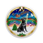 XmasMusic3-Black Labrador Ornament (Round)