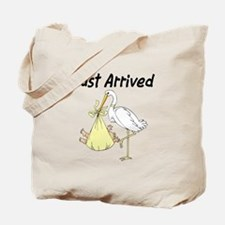 Stork with Baby(yellow) Tote Bag