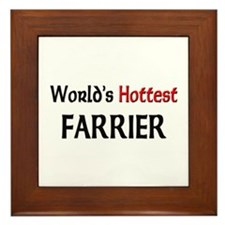 World's Hottest Farrier Framed Tile