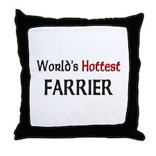 World's Hottest Farrier Throw Pillow