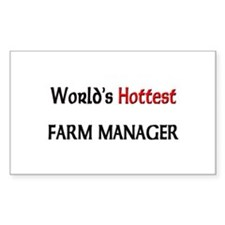 World's Hottest Farm Manager Rectangle Decal