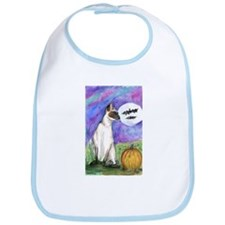Halloween Siamese Cat Bib
