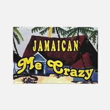 Jamaican Me crazy Rectangle Magnet