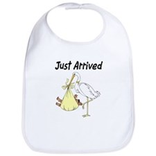 Stork and African American Baby Bib