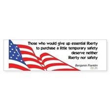 Don't sacrifice Liberty - Bumper Bumper Sticker