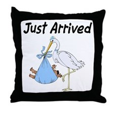 Just Arrived African American Boy Throw Pillow