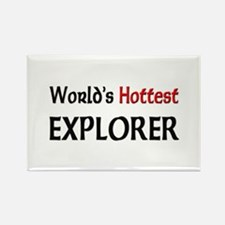 World's Hottest Explorer Rectangle Magnet