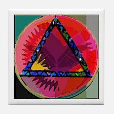 Spirit Mind Heart Tile Coaster