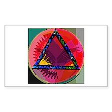 Spirit Mind Heart Rectangle Sticker 10 pk)