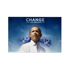 Change We Can Believe In - Obama Rectangle Magnet
