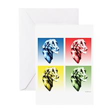 Flat-Coat Pop Art Greeting Card