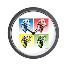 Flat-Coat Pop Art Wall Clock
