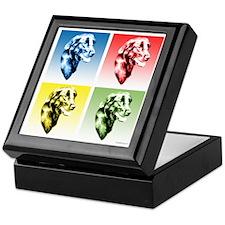 Flat-Coat Pop Art Keepsake Box