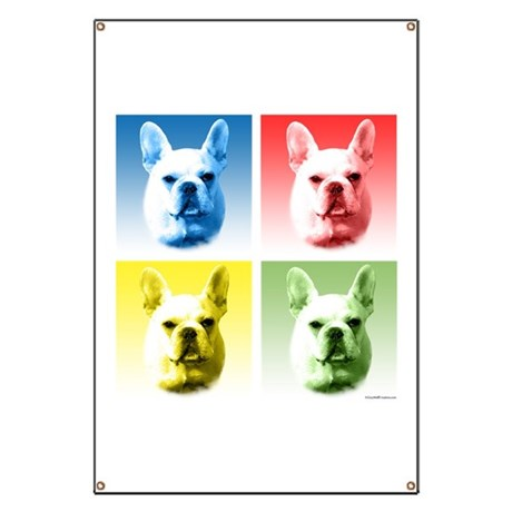 Frenchie Pop Art Banner