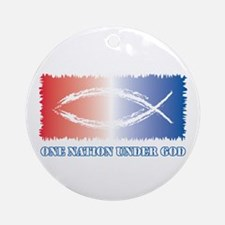 One Nation God Ornament (Round)