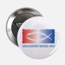 """One Nation God 2.25"""" Button"""