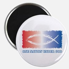 """One Nation God 2.25"""" Magnet (100 pack)"""