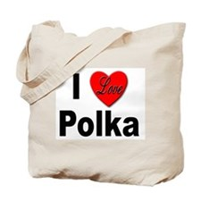 I Love Polka Tote Bag
