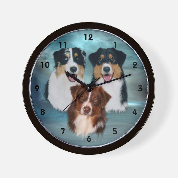 Australian Shepherd Clocks Australian Shepherd Wall Clocks