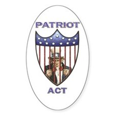 Patriot Act Oval Decal