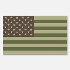 Camo American Flag Rectangle Decal