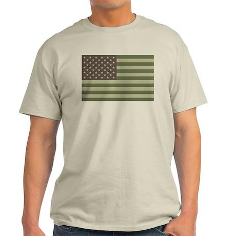 Camo American Flag Light T-Shirt