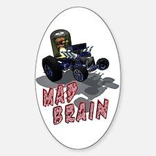 Wierd Wheels - Mad Brain Oval Decal