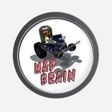 Wierd Wheels - Mad Brain Wall Clock