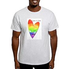 love is love Ash Grey T-Shirt
