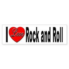 I Love Rock and Roll Bumper Bumper Sticker